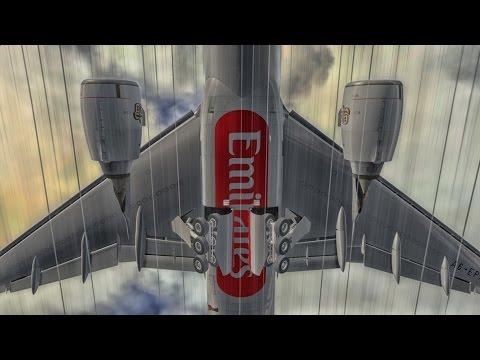 Emirates Boeing 777 Flight Simulation Movie in 4K