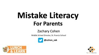 Mistake Literacy for Parents