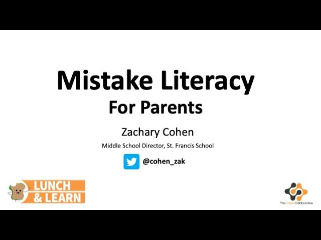 How Can Families Build Mistake Literacy?