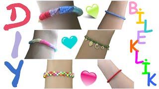 DIY/ 6 Farklı Bileklik Yapımı / Bracelet Tutorial