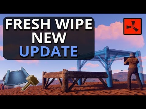 FRESH WIPE With The NEW Building UPDATE!! Rust Solo Survival