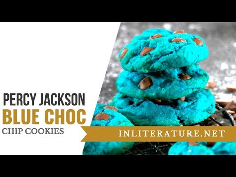 Percy Jackson Blue Chocolate Chip Cookies | Food in ...  Percy Jackson B...