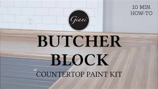 Giani DIY Butcher Block Countertop Paint Kit - 10 Min Demo