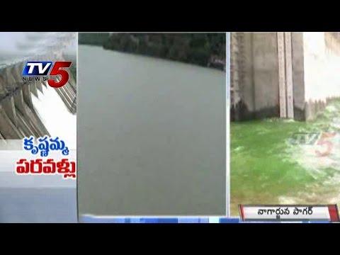 Massive Floods To Nagarjuna Sagar Dam From Srisailam Reservoir : TV5 News