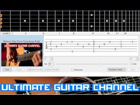 [Guitar Solo Tab] Before The Next Teardrop Falls (Freddy Fender)