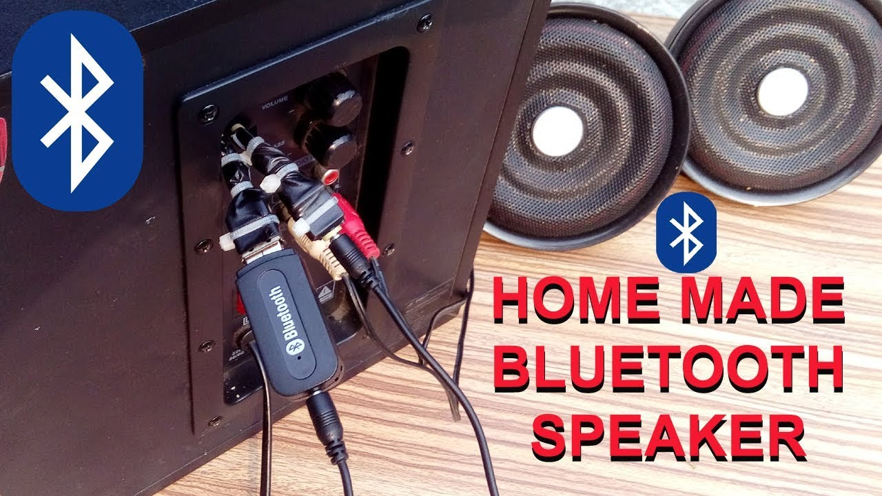 how to make wireless home theater system bluetooth connection to any speaker [ 1280 x 720 Pixel ]