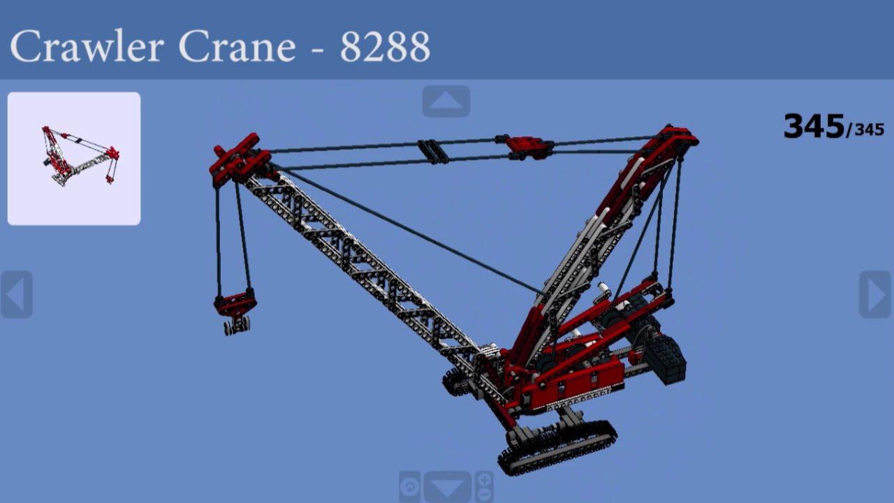 Lego how to build 8288 crawler crane youtube for Make a crane