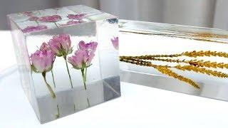 2液性レジンで植物標本を作ってみました!resin DIY
