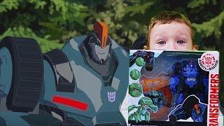 Трансформеры Роботы под прикрытием Распаковка Оверлоад и миникон Бэктрэк Игрушки для детей