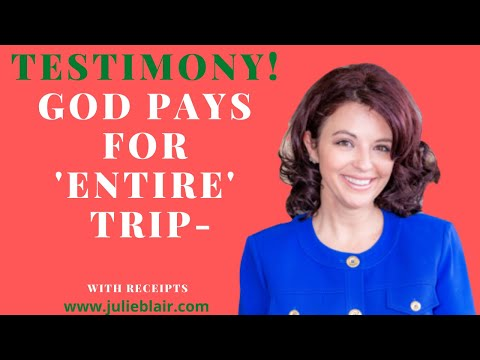 TESTIMONY Hotel and Trip Paid For by God
