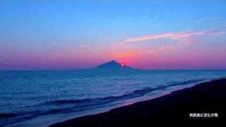 サロベツの夕陽 『利尻礼文サロベツ国立公園』