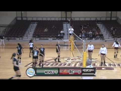 RIC Women's Volleyball vs Nichols College 9-28-16