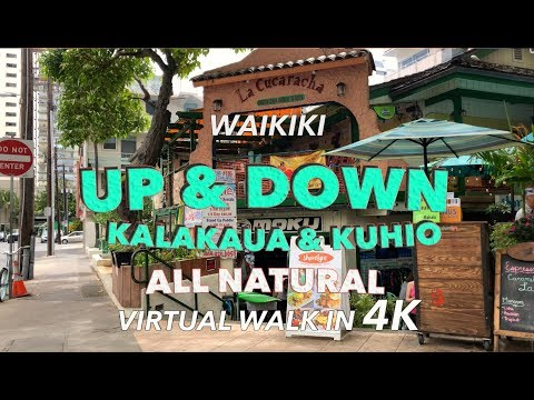Waikiki Walk Between Streets 5/3/2018 [4K]