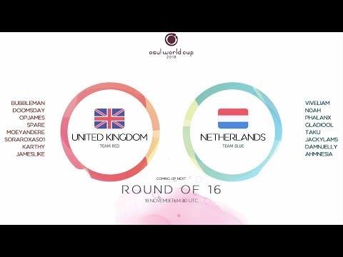 Osu! World Cup 2018: Round Of 16: United Kingdom Vs Netherlands