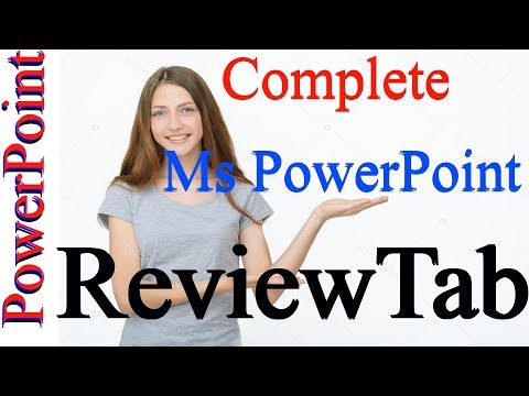 How to use REVIEW TAB in PowerPoint by Kshedang [Nepali]
