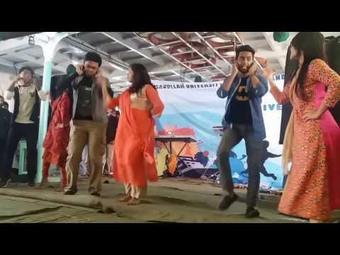 Group dance performance in AUST EEE River Cruise 2016