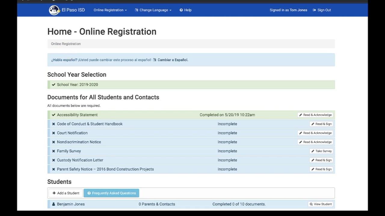 Online Registration / How to Register