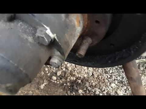 Установка пружины на тормозные колодки уаз