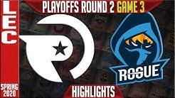 OG vs RGE Highlights Game 3 | LEC Spring 2020 Playoffs Round 2 | Origen vs Rogue G3