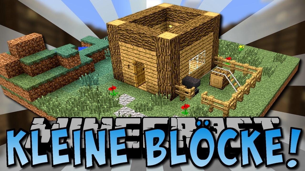 KLEINE BLÖCKE HÄUSER MOD Deutsch YouTube - Minecraft lustige hauser