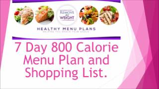 800 Calorie Meal Plan to Lose Weight - Free printable and Shopping list