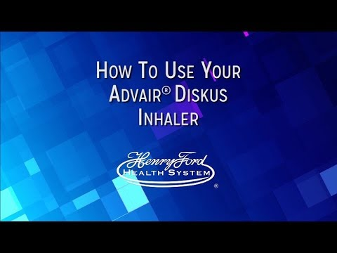 How To Use Your Advair Diskus Inhaler Youtube