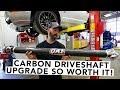 QA1 Carbon Fiber Driveshaft Upgrade Rocks Mullet Mustang EP18