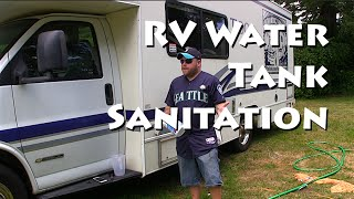 Sanitizing RV Water Holding Tank