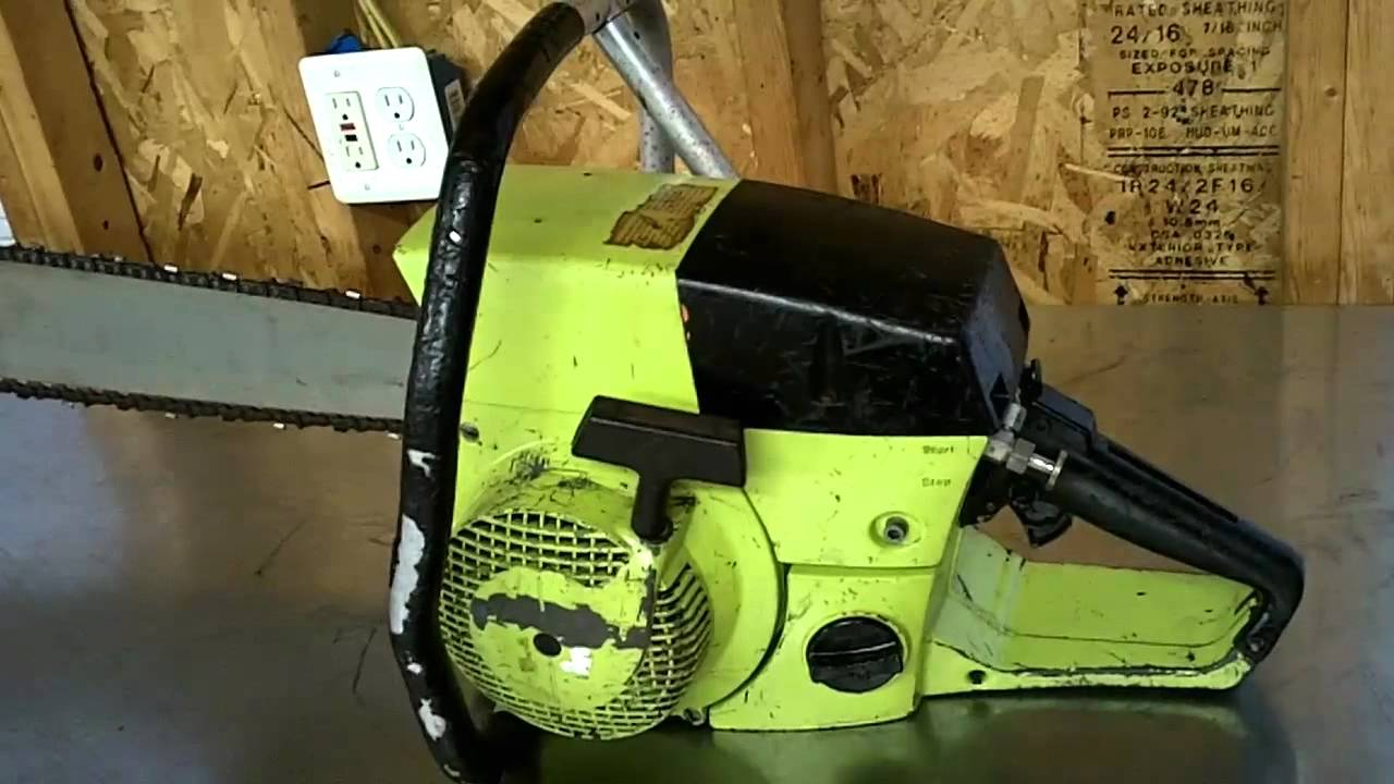 Poulan S6000 countervibe Dolmar 153 chainsaw YouTube