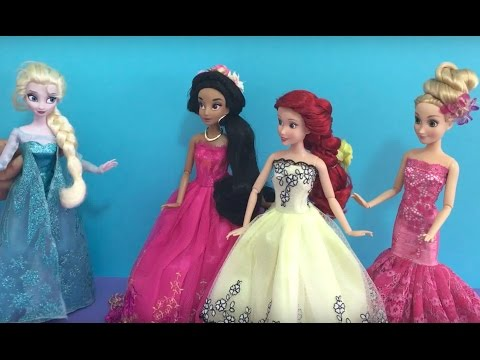 Disney Princess- A Dolls Life! Frozen Elsa Barbie Snow White