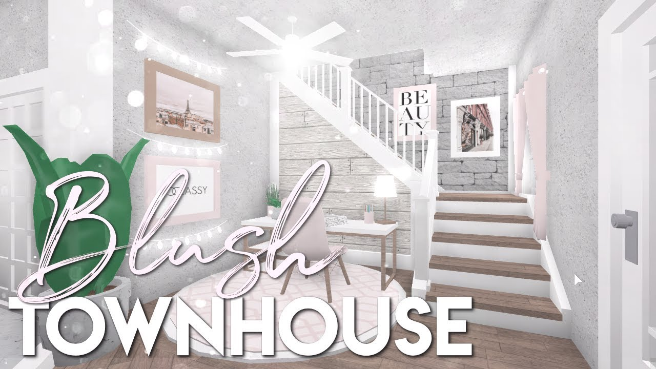 Bloxburg Blush Townhouse 34k Youtube