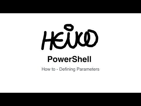 Windows PowerShell - How to - Defining Parameters