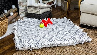 DIY No Sew Dog Bed - Home & Family