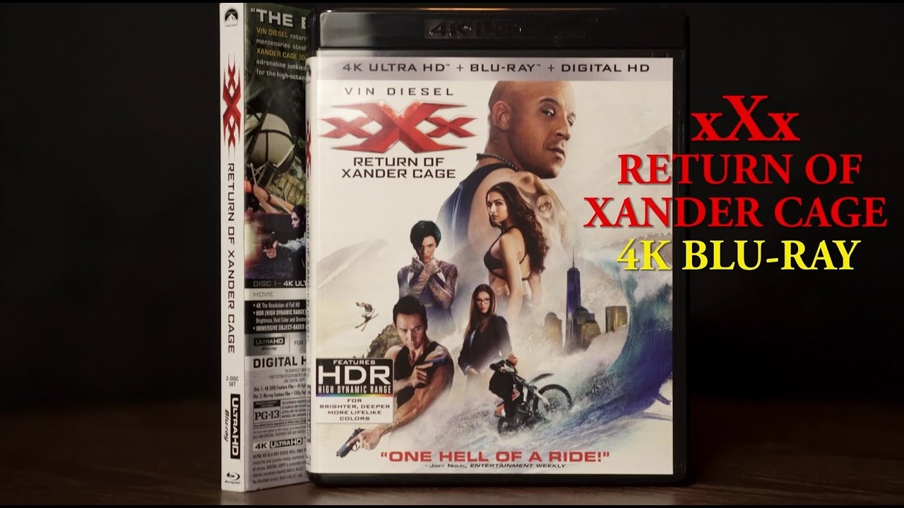 XxX Return Of Xander Cage 4K Bluray Unboxing, Atmos Audio/ Video Review