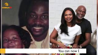 VETERAN ACTOR RICHARD MOFE DAMIJO RECREATES 20 YEAR OLD PHOTO WITH WIFE39S SISTER