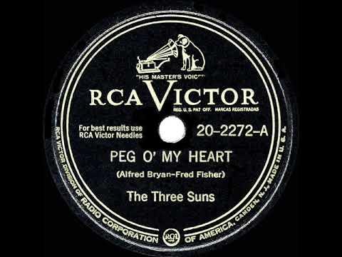 1947 HITS ARCHIVE: Peg O' My Heart - Three Suns (their Original #1 Version)