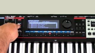 Roland Juno-Gi - How to Select Live Sets