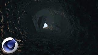 Cinema 4D – Создаем темную пещеру в Cinema 4D. [Уроки 3D]