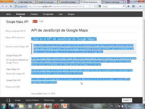 VideoTutorial 1 sobre el uso de la API de Google Maps