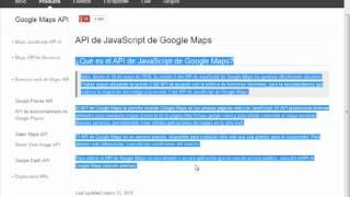 VideoTutorial 1 sobre el uso de la API de Google Maps Free HD Video