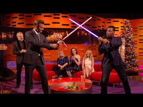 Download Youtube: David Beckham and John Boyega Lightsaber showdown - The Graham Norton Show: Series 18 - BBC