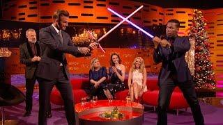 David Beckham and John Boyega Lightsaber showdown - The Graham Norton Show: Series 18 - BBC