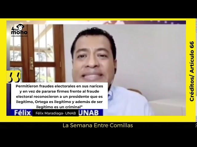 Félix Maradiaga: Ortega es ilegítimo y además un criminal