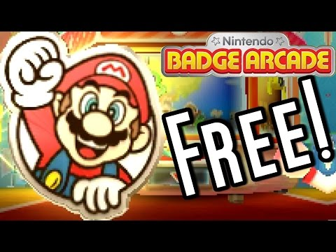 How to Get FREE Super Mario BADGES - Nintendo Badge Arcade (3DS)