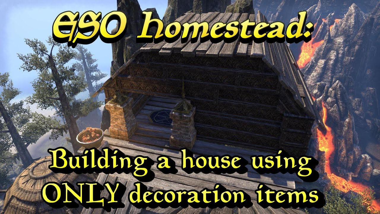 Eso Homestead: Building A House Using Only Decoration Items *past  Livestream*