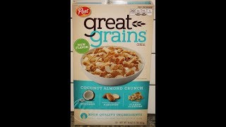 Post Great Grains: Coconut Almond Crunch Cereal Review