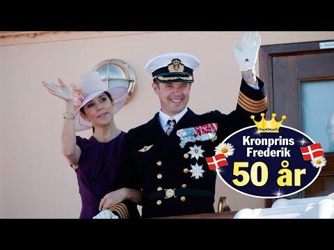 Se med når kronprinsparret ankommer til fejring i Aarhus