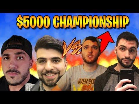 $5,000 Fortnite Tournament Finals - NickMercs & SypherPK vs. NoahJ456 & Avxry