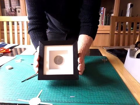 Mounting A Coin For Display In Box Frame Conservation Method