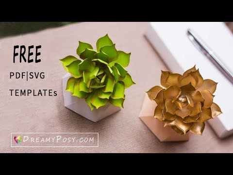 How to make paper succulent, free template